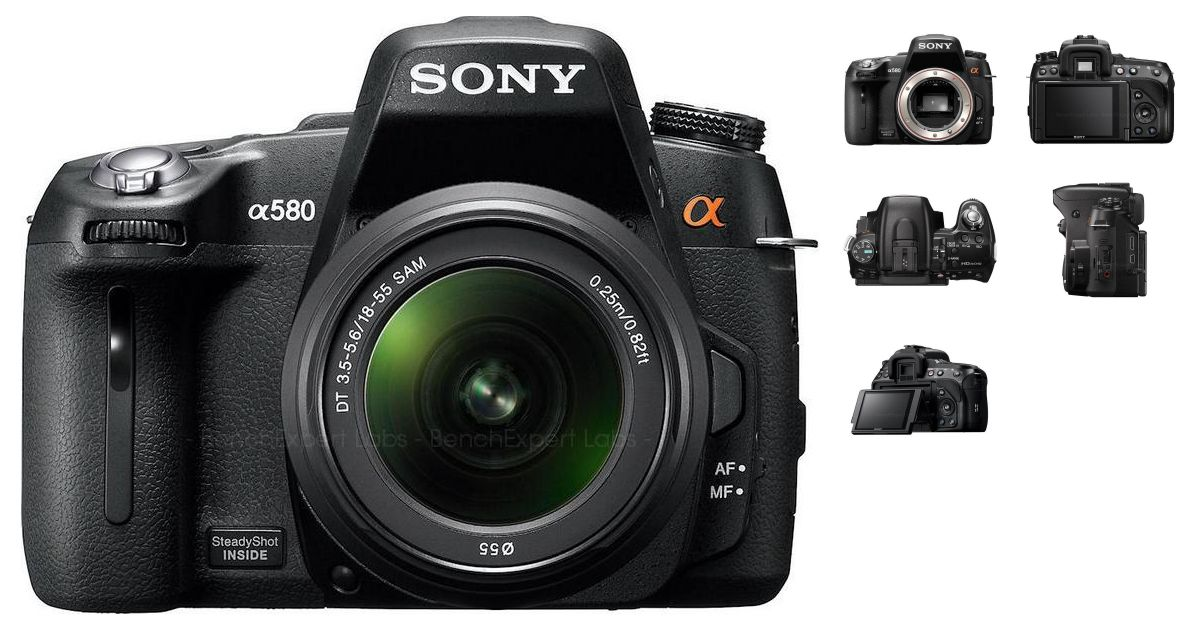 comparatif sony alpha dslr a580 vs canon eos 1300d appareils photo num riques. Black Bedroom Furniture Sets. Home Design Ideas