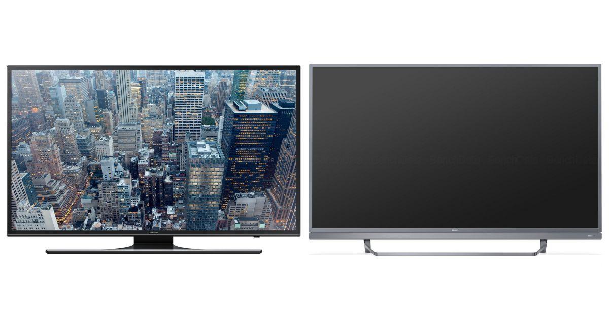 comparatif samsung ue48ju6400w vs sony kd 49xe8005. Black Bedroom Furniture Sets. Home Design Ideas