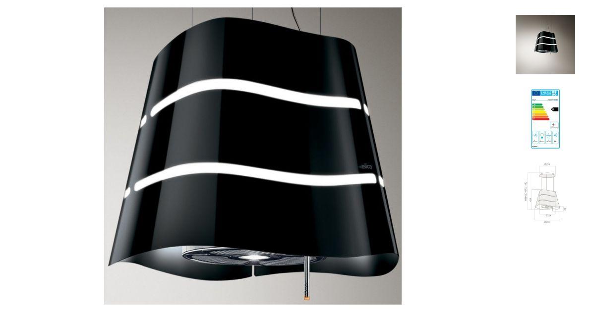 elica wave bk f 51 hottes. Black Bedroom Furniture Sets. Home Design Ideas