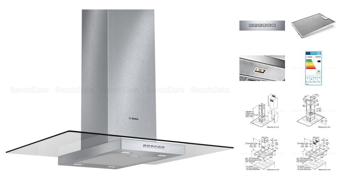 comparatif bosch dia097a50 vs falmec loop lot 74 noir metallis hottes. Black Bedroom Furniture Sets. Home Design Ideas