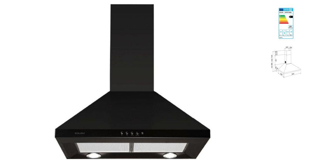 comparatif glem ghp670bk vs hottes. Black Bedroom Furniture Sets. Home Design Ideas