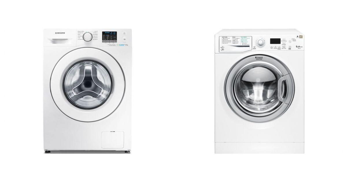 comparatif samsung wf80f5e0w2w vs hotpoint wmg 923bx it c lave linge. Black Bedroom Furniture Sets. Home Design Ideas