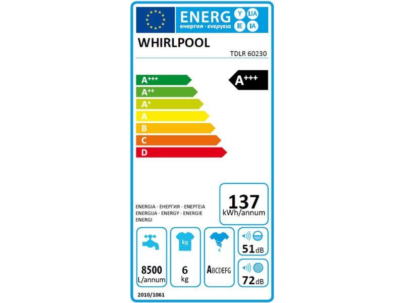 whirlpool tdlr 60230 | lave linge