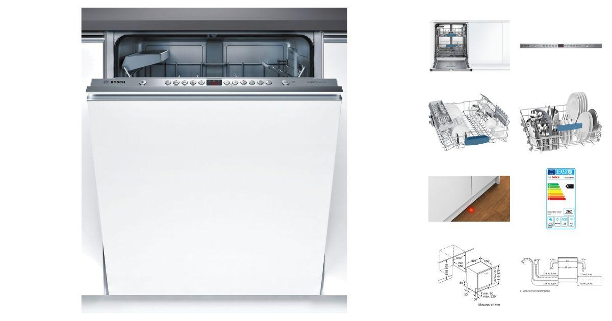 Bosch smv53n90eu lave vaisselle - Lave vaisselle bosch aquasensor ...