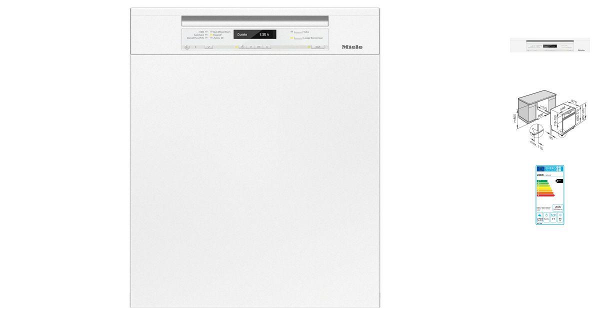miele g 6730 sci bb lave vaisselle. Black Bedroom Furniture Sets. Home Design Ideas