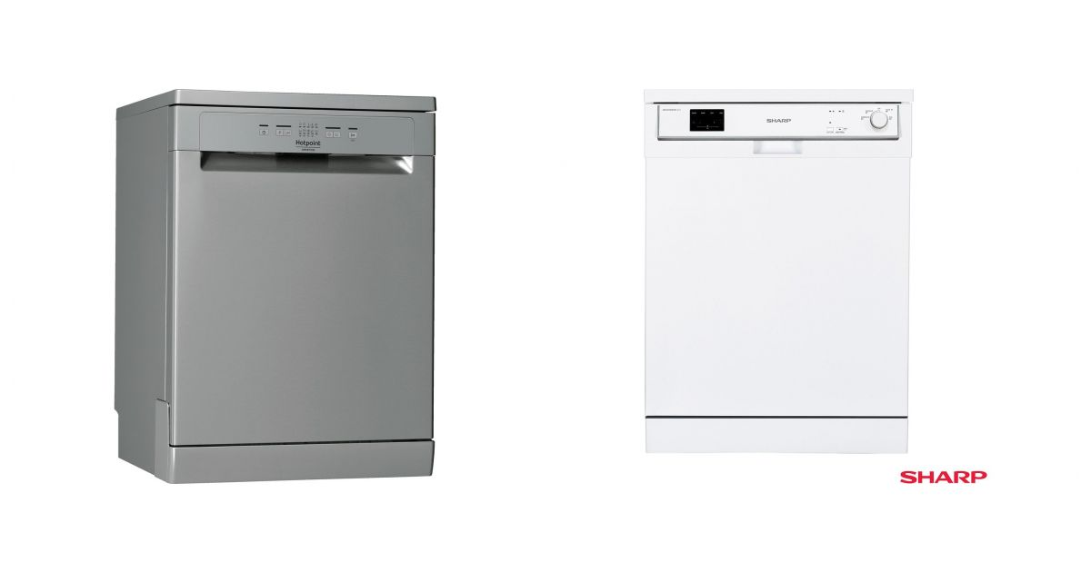 comparatif hotpoint hfc 2b 26 x vs sharp qw hx13f472w lave vaisselle. Black Bedroom Furniture Sets. Home Design Ideas