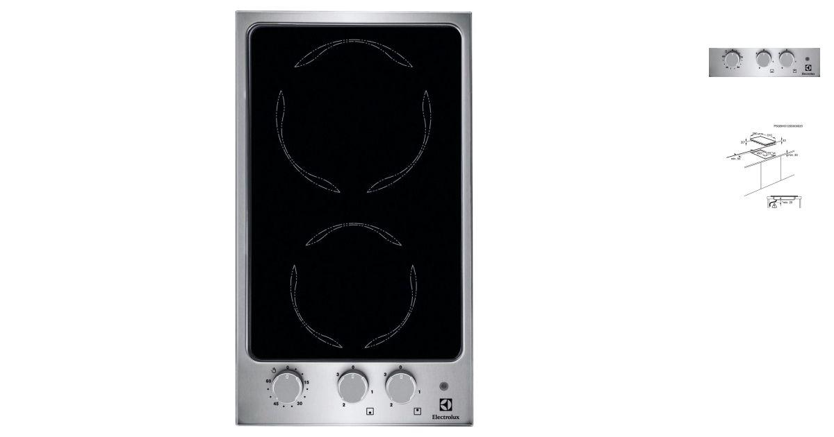 Electrolux ehf3920vox plaques de cuisson for Appareil de cuisson 5 en 1