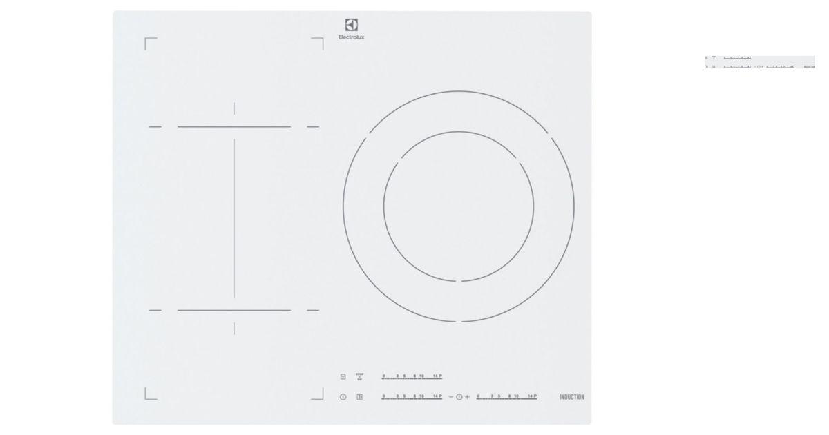 electrolux ehn6532iw1 plaques de cuisson. Black Bedroom Furniture Sets. Home Design Ideas