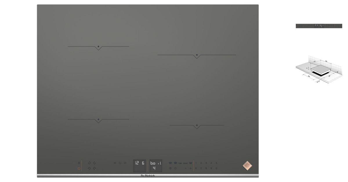 De dietrich dpi7670g plaques de cuisson - Plaque de cuisson de dietrich ...