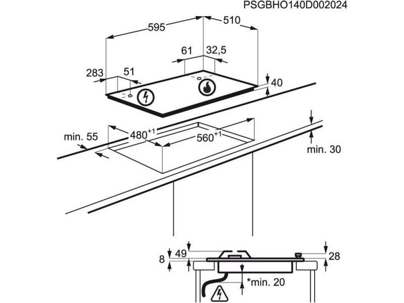 Electrolux KGS6424W