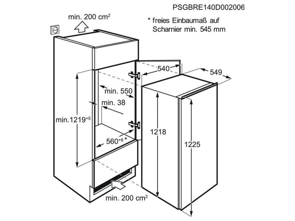 R/éfrig/érateurs-cong/élateurs Blanc r/éfrig/érateur-cong/élateur 189 L, SN-T, 35 dB, 2 kg//24h, A++, Blanc Electrolux ERN2012BOW Int/égr/é 189L A+