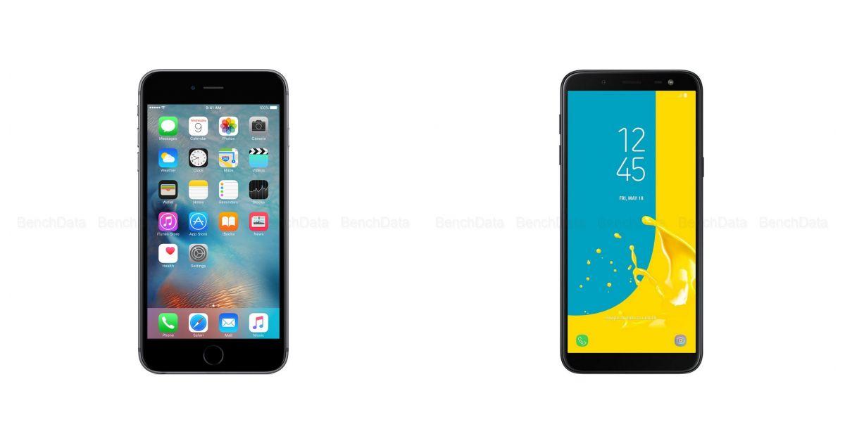 comparatif apple iphone 6s plus 32go 4g vs samsung galaxy j6 2018 32go 4g smartphones. Black Bedroom Furniture Sets. Home Design Ideas