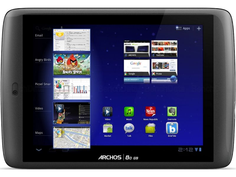 Archos 80 G9 Turbo, 250Go